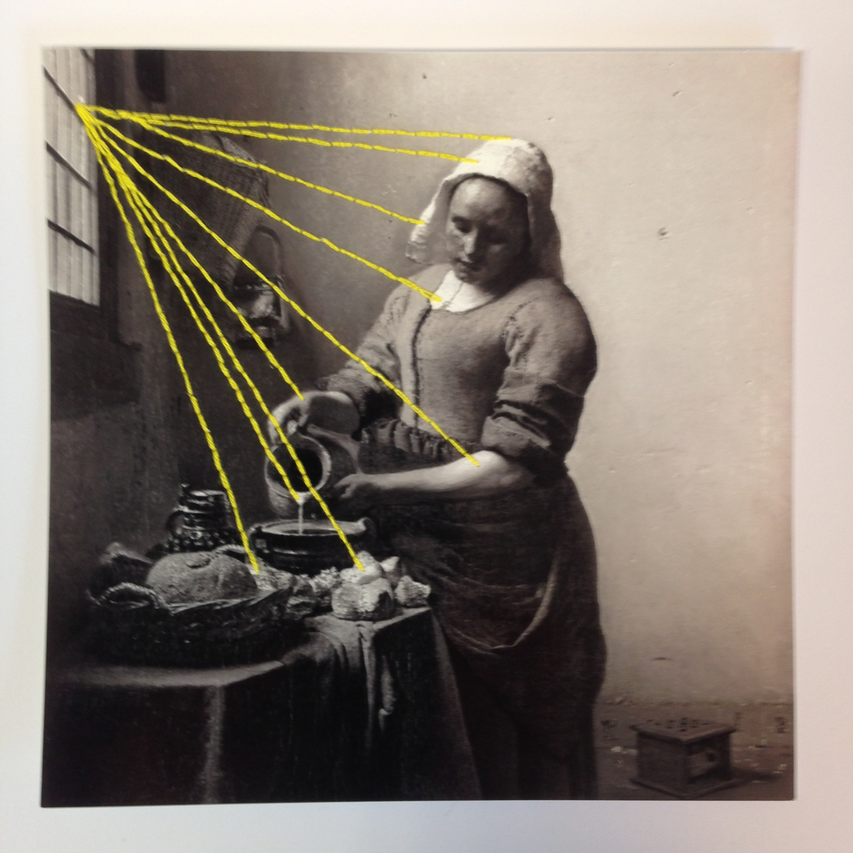 Borduren op zwart- wit foto's